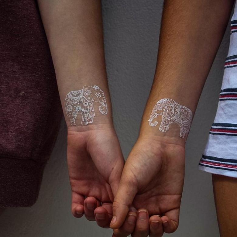 Белые тату (76 фото) - эскизы для девушек и мужчин на руку, предплечье, как рукав