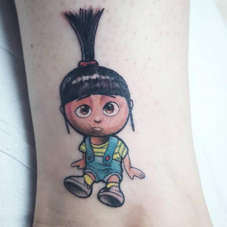 Мультяшные тату - эскизы и значение, как выбрать мультяшного героя для татуировки (82 фото)