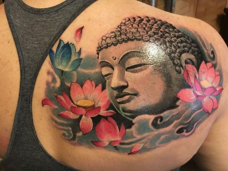 Буддистские тату - виды, символика и места нанесения (75 фото)