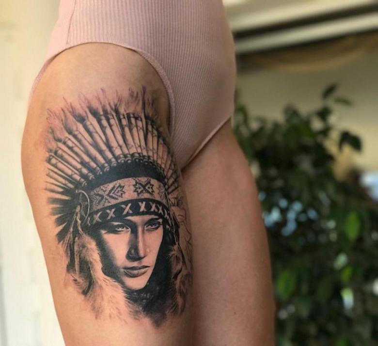 Индейские тату - тематика, эскизы, значение (79 фото)
