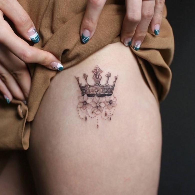 Интимные тату (75 фото) - преимущества, как создаются татуировки на интимных местах