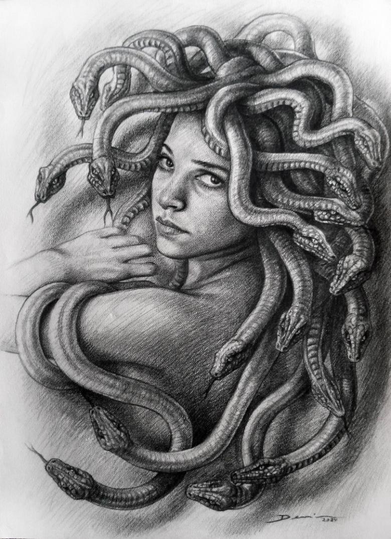 Тату медуза горгона - значение для мужчин и женщин, эскизы с медузоной горгоной (81 фото)