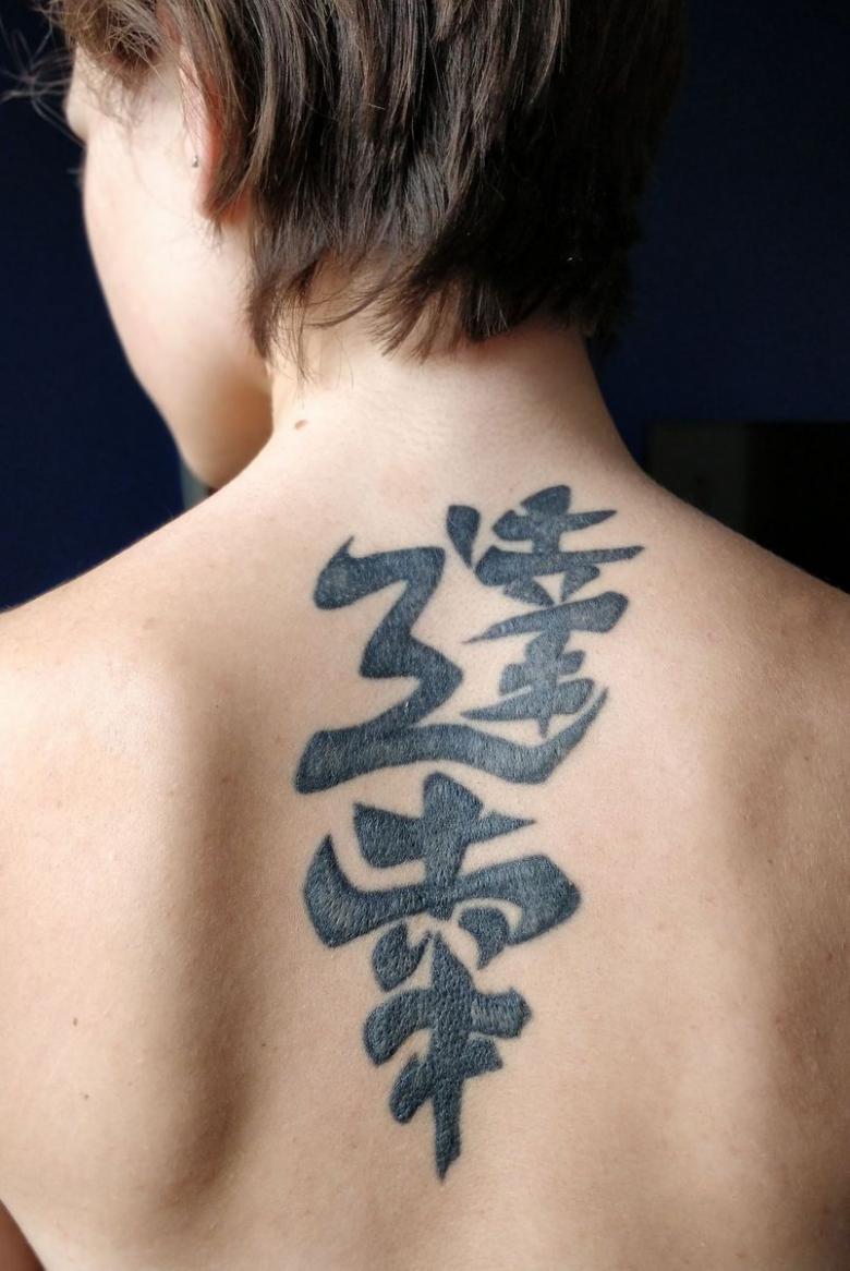 китайский иероглиф удача тату фото пропускает
