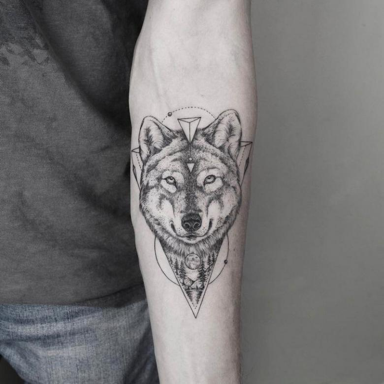 Тату волк (73 фото) - значение, лучшие эскизы с татуировкой волком для мужчин и девушек