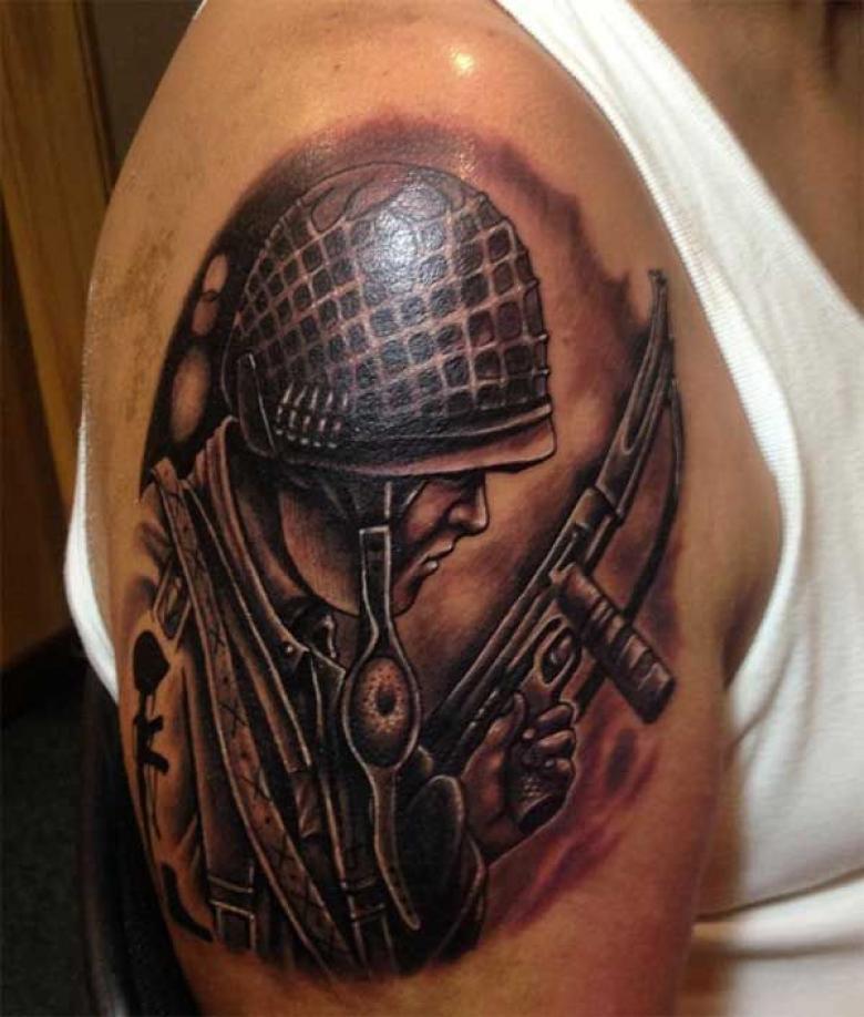 Военные тату (78 фото) - эскизы, выбор места нанесение татуировок на военную тематику