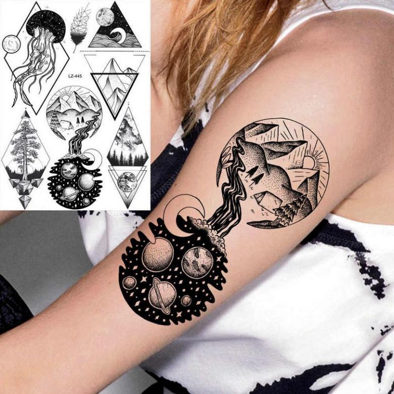 Временные татуировки - как сделать в домашних условиях (82 фото)