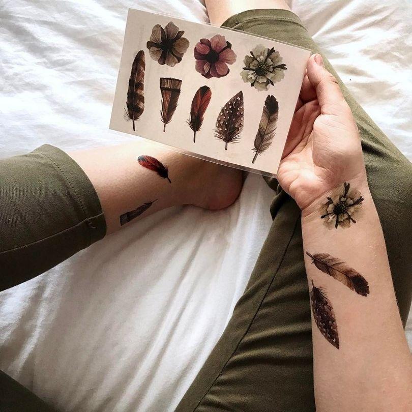 Картинки временных татуировок на руке